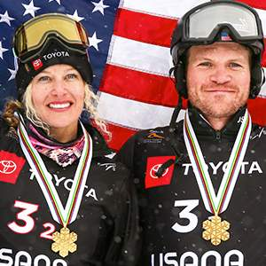 Mick Dierdorff and Lindsey Jacobellis