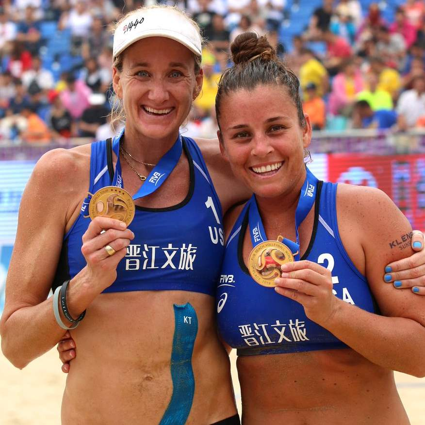 Kerri Walsh Jennings and Brooke Sweat