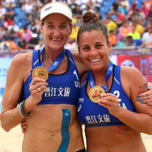 Kerri Walsh Jennings and Brooke Sweat